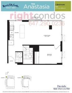 Daniels City Centre - Wesley Tower - Floorplan Anastasia