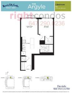 Daniels City Centre - Wesley Tower - Floorplan Argyle