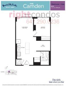 Daniels City Centre - Wesley Tower - Floorplan Camden