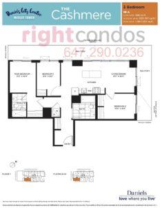 Daniels City Centre - Wesley Tower - Floorplan Cashmere