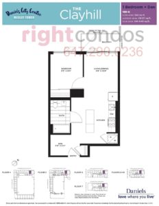 Daniels City Centre - Wesley Tower - Floorplan Clayhill
