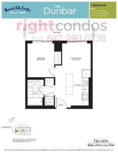 Daniels City Centre - Wesley Tower - Floorplan Dunbar