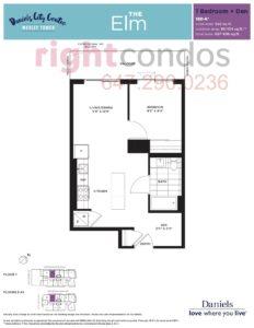 Daniels City Centre - Wesley Tower - Floorplan Elm