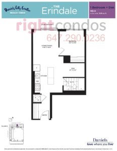 Daniels City Centre - Wesley Tower - Floorplan Erindale