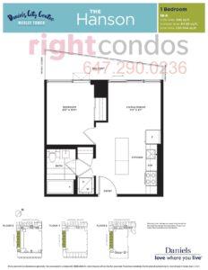 Daniels City Centre - Wesley Tower - Floorplan Hanson