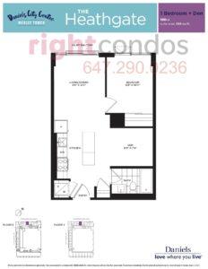 Daniels City Centre - Wesley Tower - Floorplan Heathgate