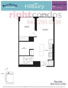 Daniels City Centre - Wesley Tower - Floorplan Hillbury