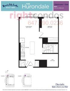 Daniels City Centre - Wesley Tower - Floorplan Hurondale