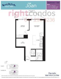 Daniels City Centre - Wesley Tower - Floorplan Joan