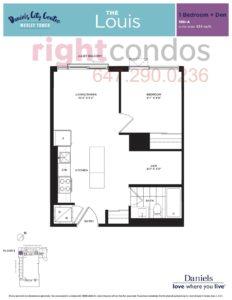 Daniels City Centre - Wesley Tower - Floorplan Louis