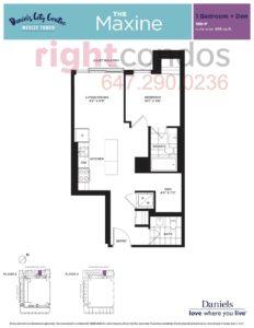 Daniels City Centre - Wesley Tower - Floorplan Maxine