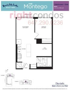 Daniels City Centre - Wesley Tower - Floorplan Montego