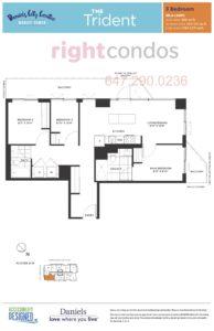 Daniels City Centre - Wesley Tower - Floorplan Trident