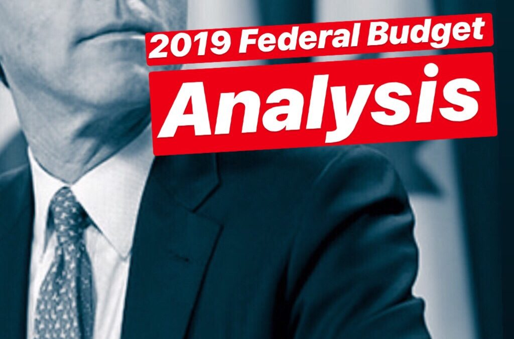 2019 Federal Budget Announcement
