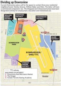 Downsview Plan with 5 Districts