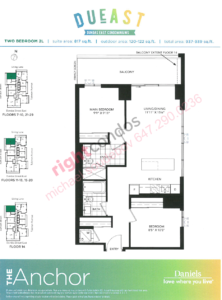 Daneils DuEast Anchor Floorplan