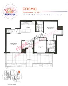Daniels DuEast Boutique Cosmo Floorplan