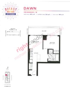 Daniels DuEast Boutique Dawn Floorplan