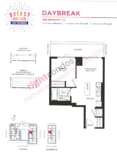 Daniels DuEast Boutique Daybreak Floorplan