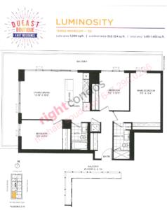 Daniels DuEast Boutique Luminosity Floorplan