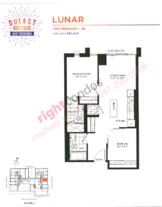 Daniels DuEast Boutique Lunar Floorplan
