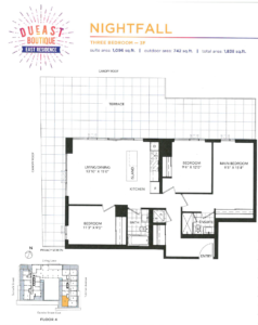 Daniels DuEast Boutique Nightfall Floorplan