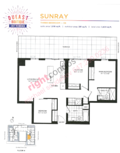 Daniels DuEast Boutique Sunray Floorplan