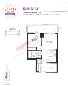Daniels DuEast Boutique Sunrise Floorplan