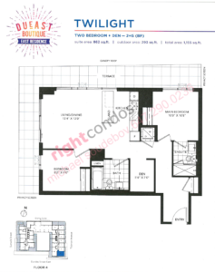 Daniels DuEast Boutique Twilight Floorplan