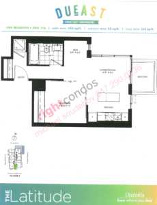Daniels DuEast Latitude Floorplan