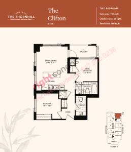 Daniels The Thornhill Clifton Floorplan Layout