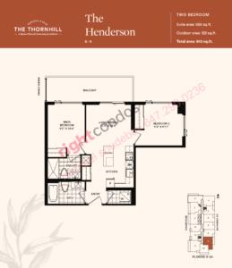 Daniels The Thornhill Henderson Floorplan Layout